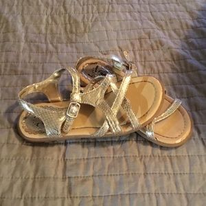 SALE Girl's beautiful Children Place gold sandals